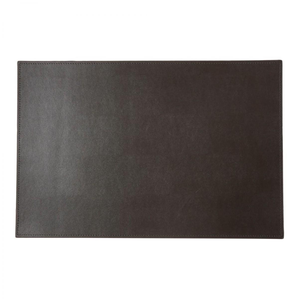 DACORE Dækkeserviet genbrugslæder firkantet mørke brun