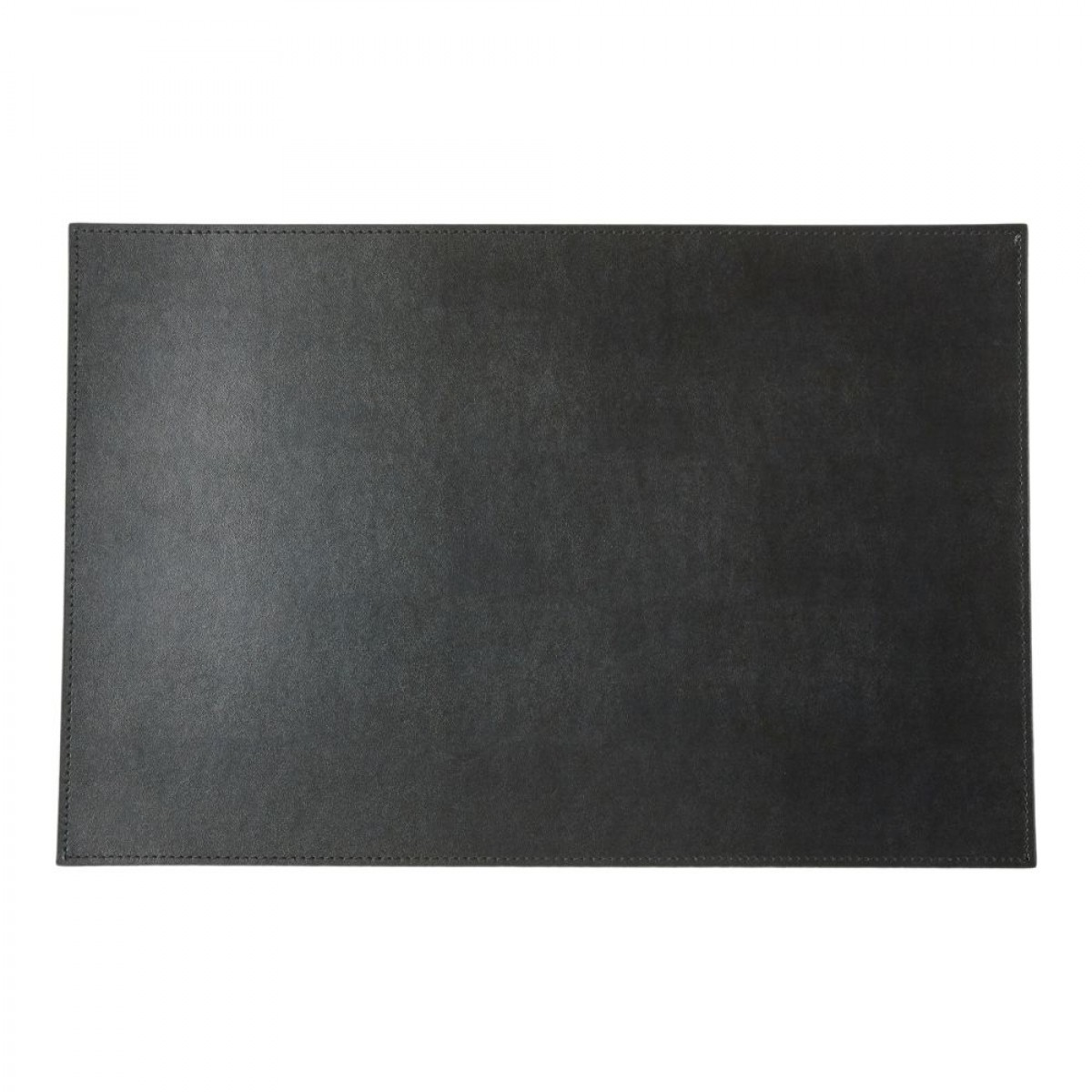 DACORE Dækkeserviet genbrugslæder firkantet sort
