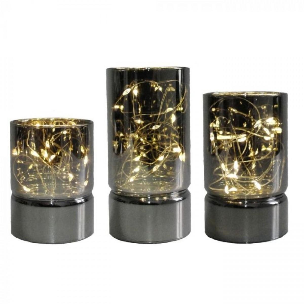 CONZEPT Glascylinder 3 stk ø6 cm