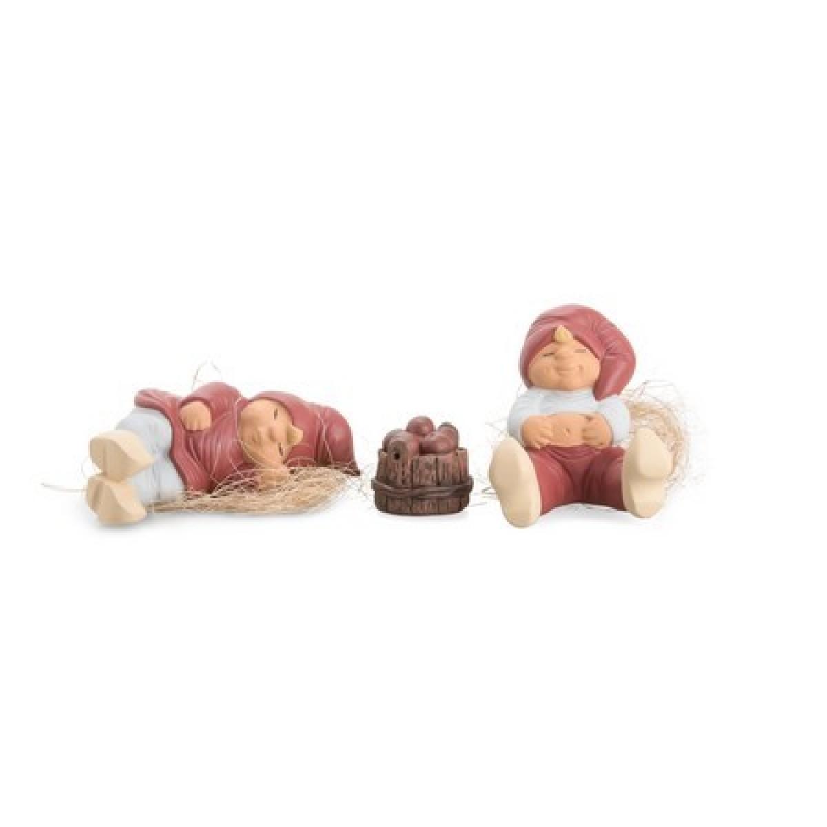 KLARBORG Mikkel & Amalie træbalje med æbler
