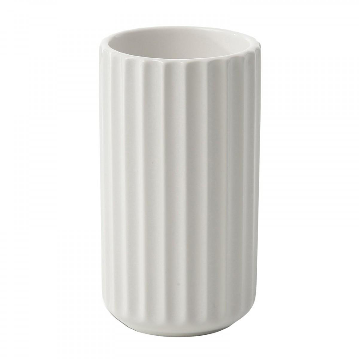 LYNGBY Vase hvid 15 cm.