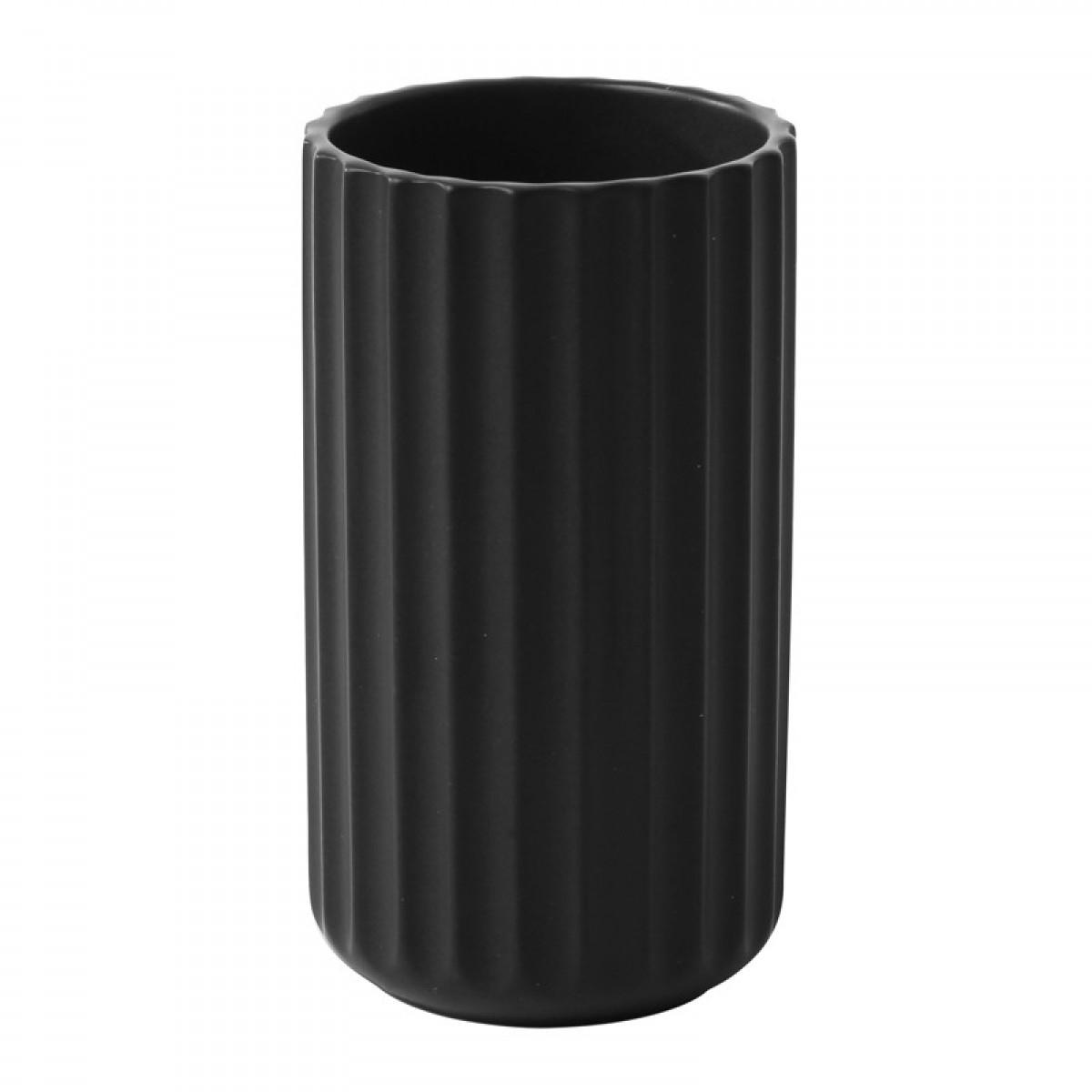 LYNGBY Vase sort 25 cm.