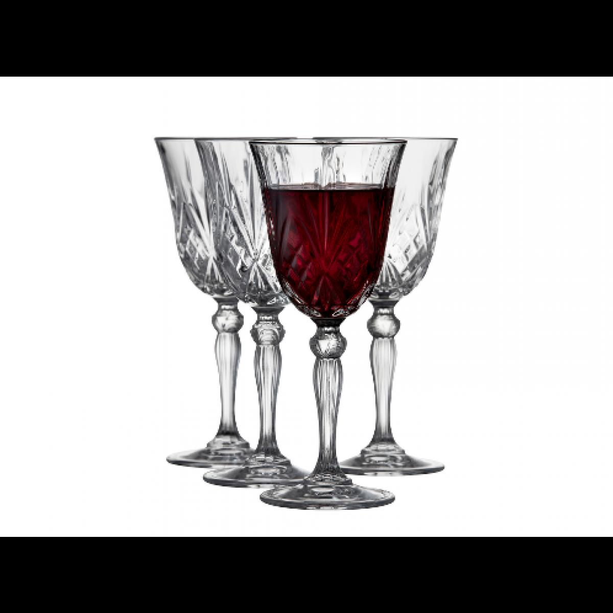 LYNGBY Melodia krystal rødvinsglas 27 cl 4 stk