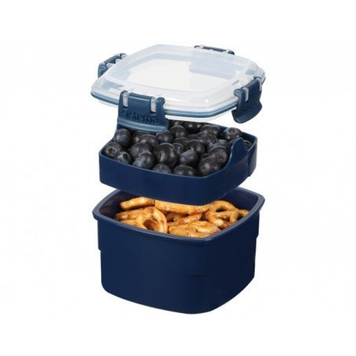 SISTEMA Snack boks m/indsats renew - blå
