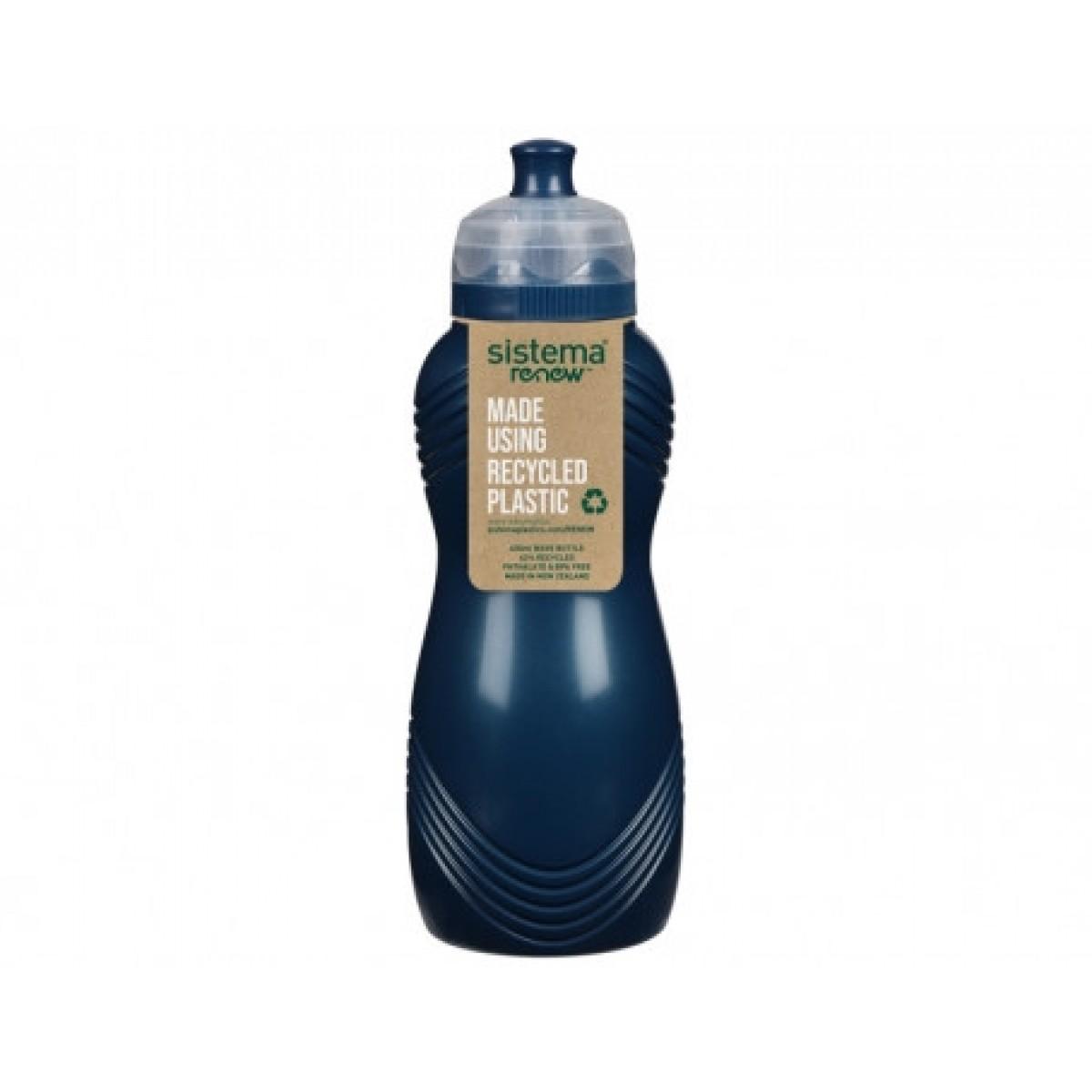 SISTEMA Drikkedunk wave 600 ml renew - blå