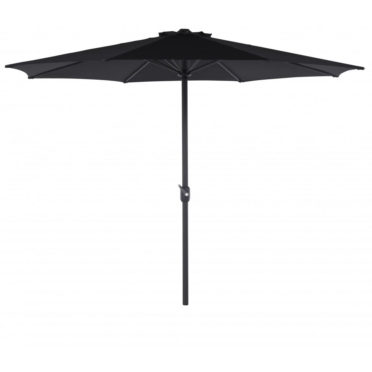 OUTFIT Alu -parasol Ø 3 m - sort