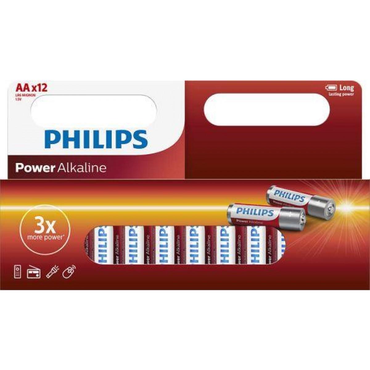 "PHILIPS Batterier ""aa"" 12 pk"