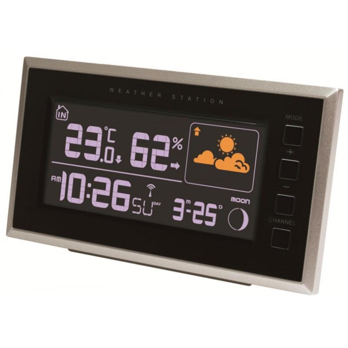 ROSENBORG Vejrstation m/inde og ude temperatur & hygrometer