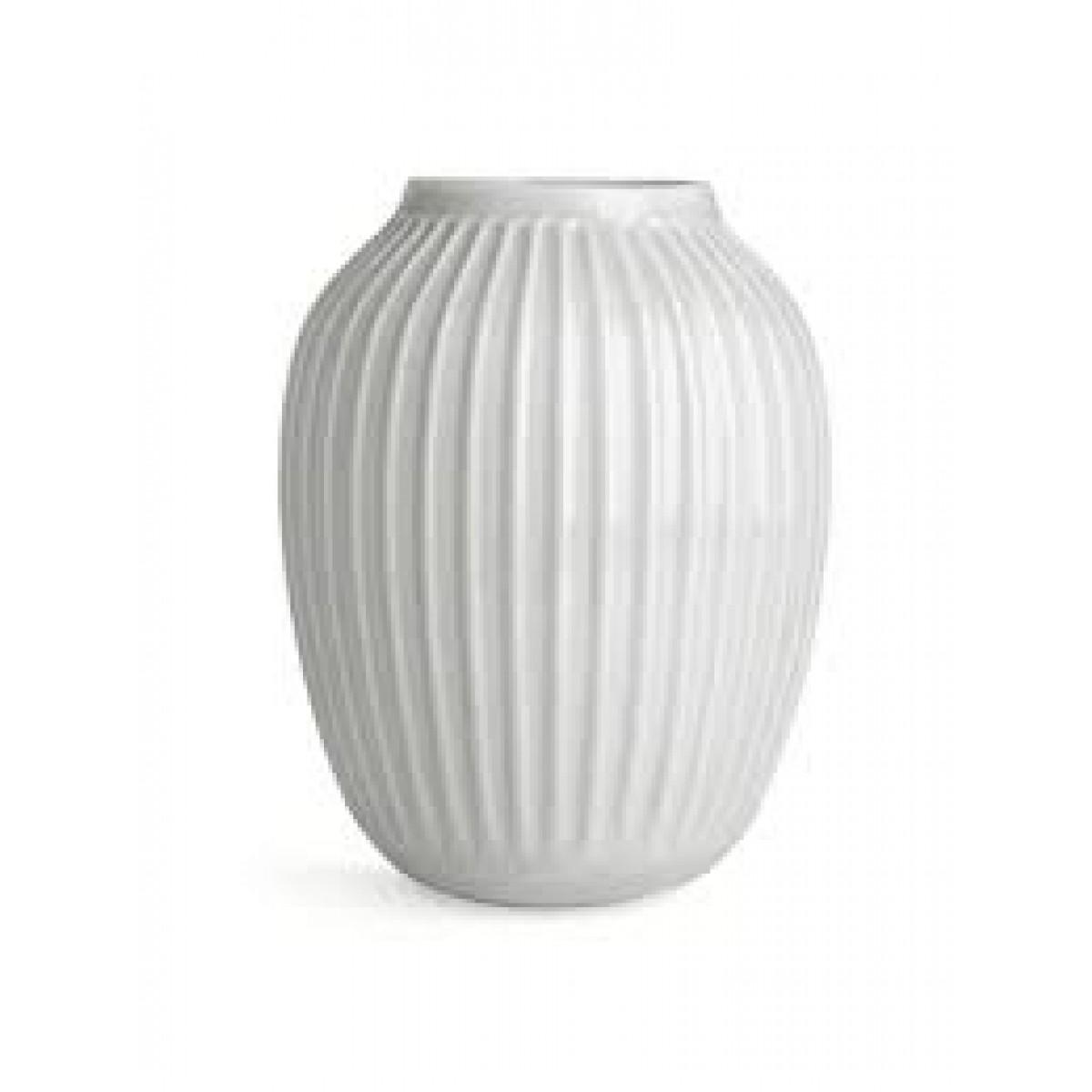 KÄHLER Hammershøi vase hvid 25 cm.