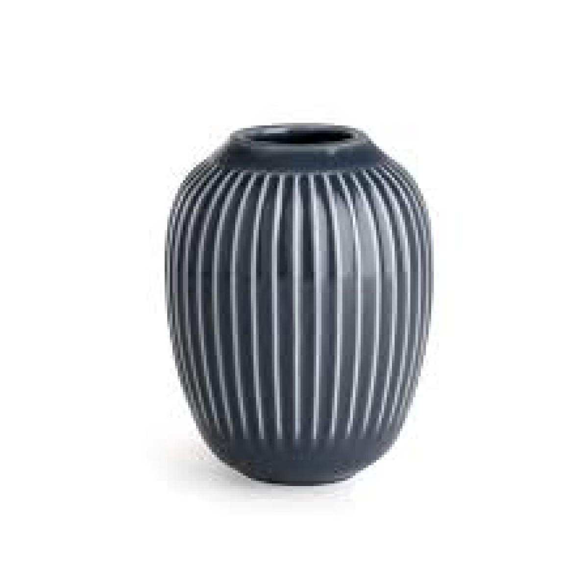 KÄHLER Hammershøi vase antracit grå 10 cm.