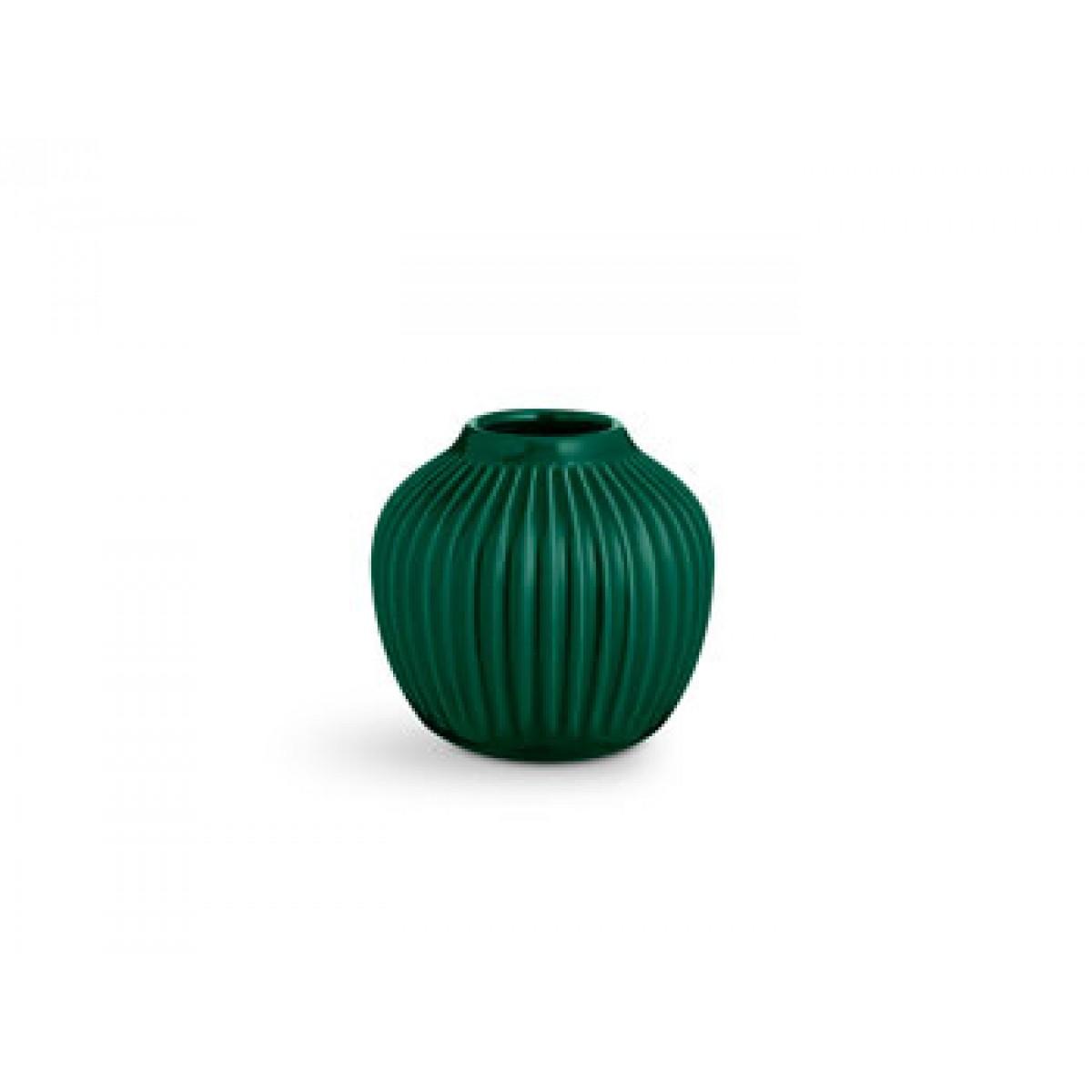 KÄHLER Hammershøi vase grøn 12,5 cm.