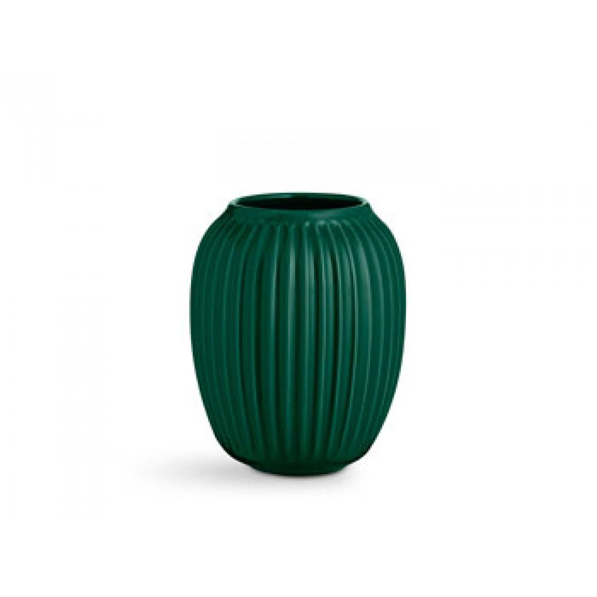 KÄHLER Hammershøi vase grøn 20 cm.