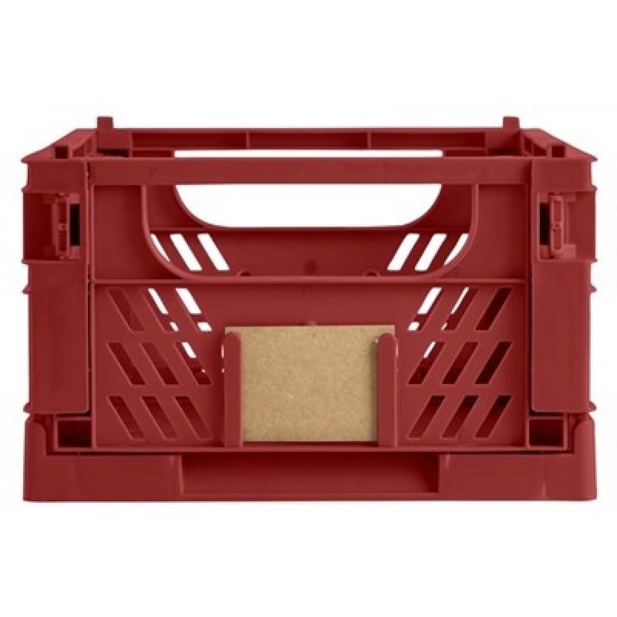 DAY Opbevaringskasse foldbar 33x24,5x15 cm ochre red