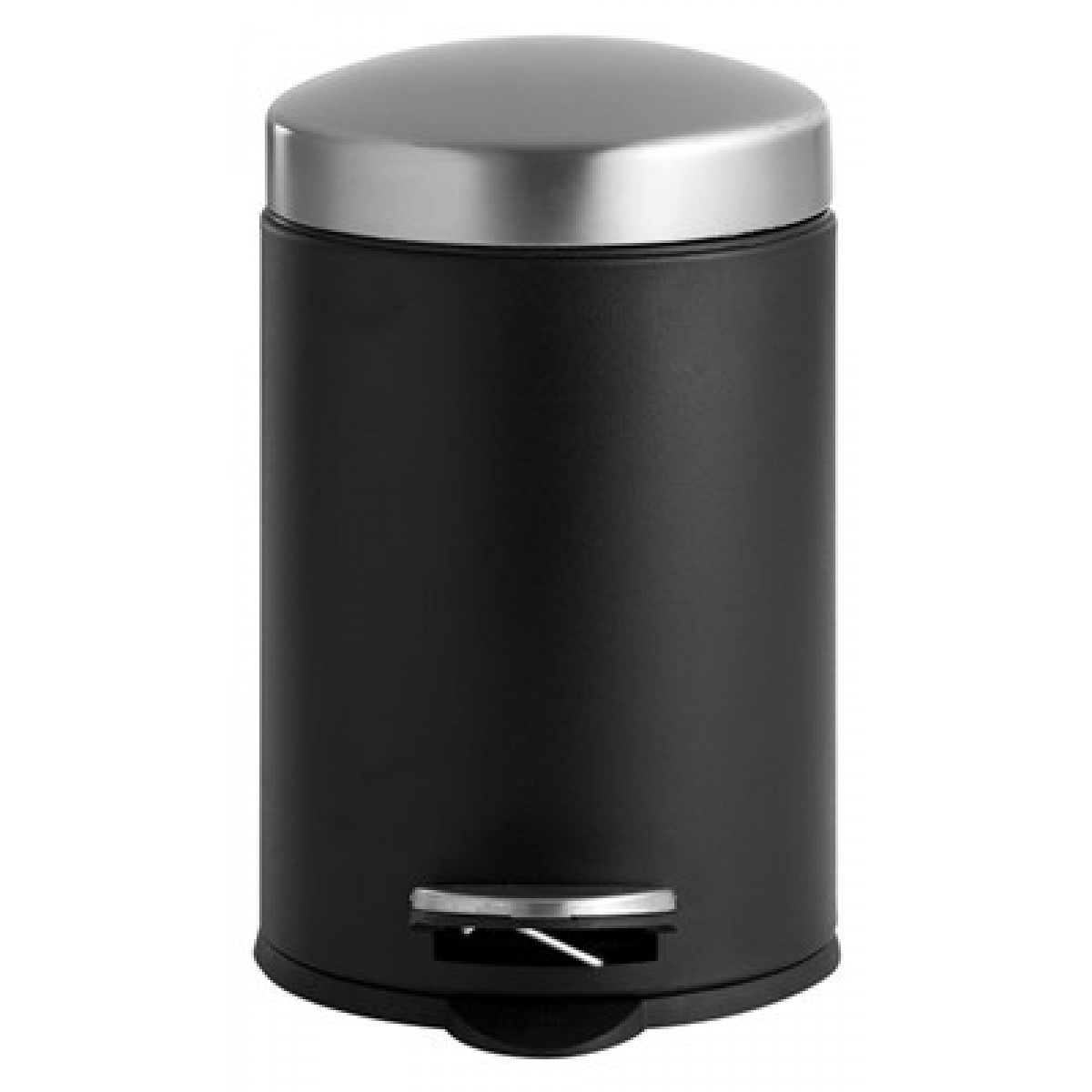 DAY Pedalspand sort/stål m. softclose 3 L