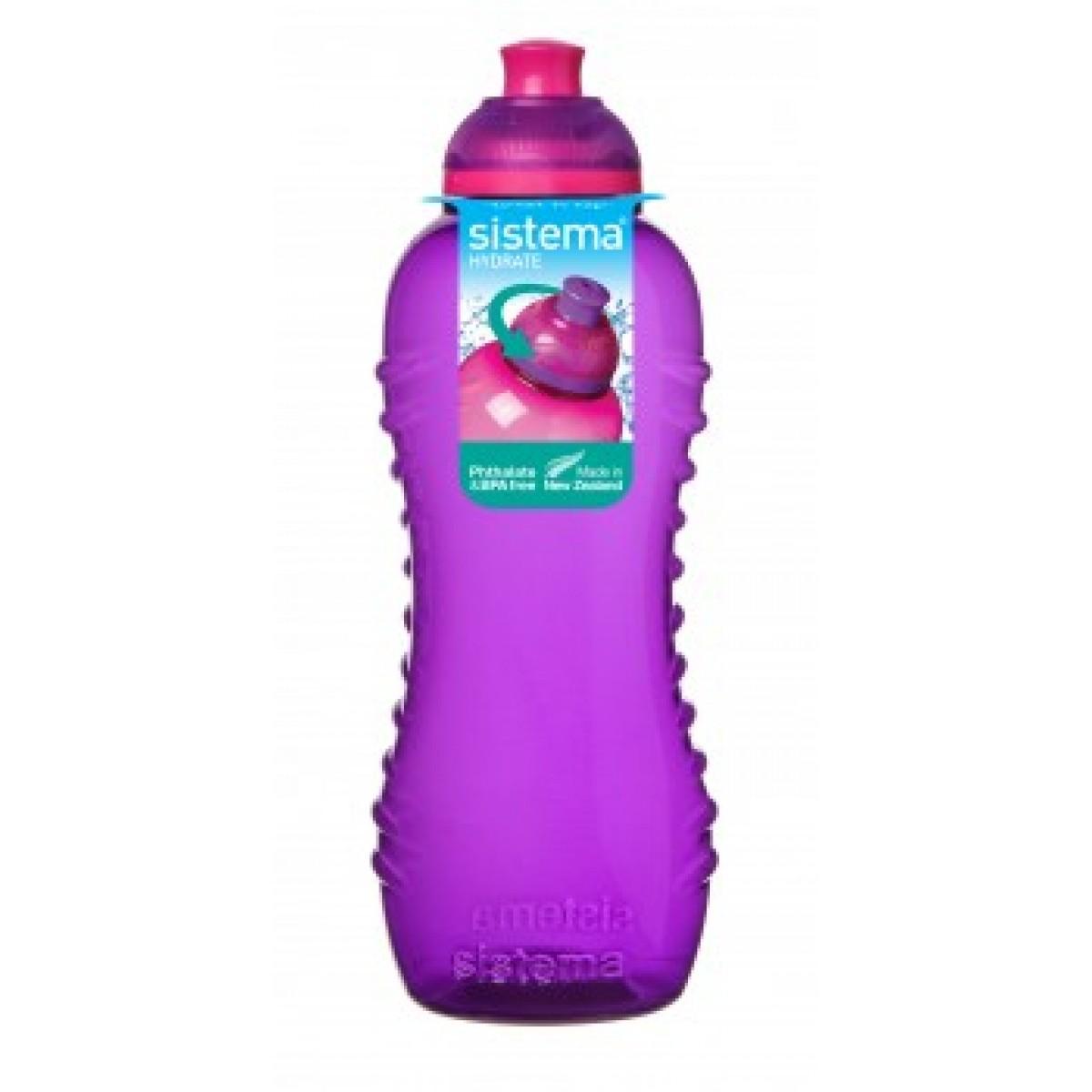 SISTEMA Drikkedunk lilla 460 ml twist 'n' sip