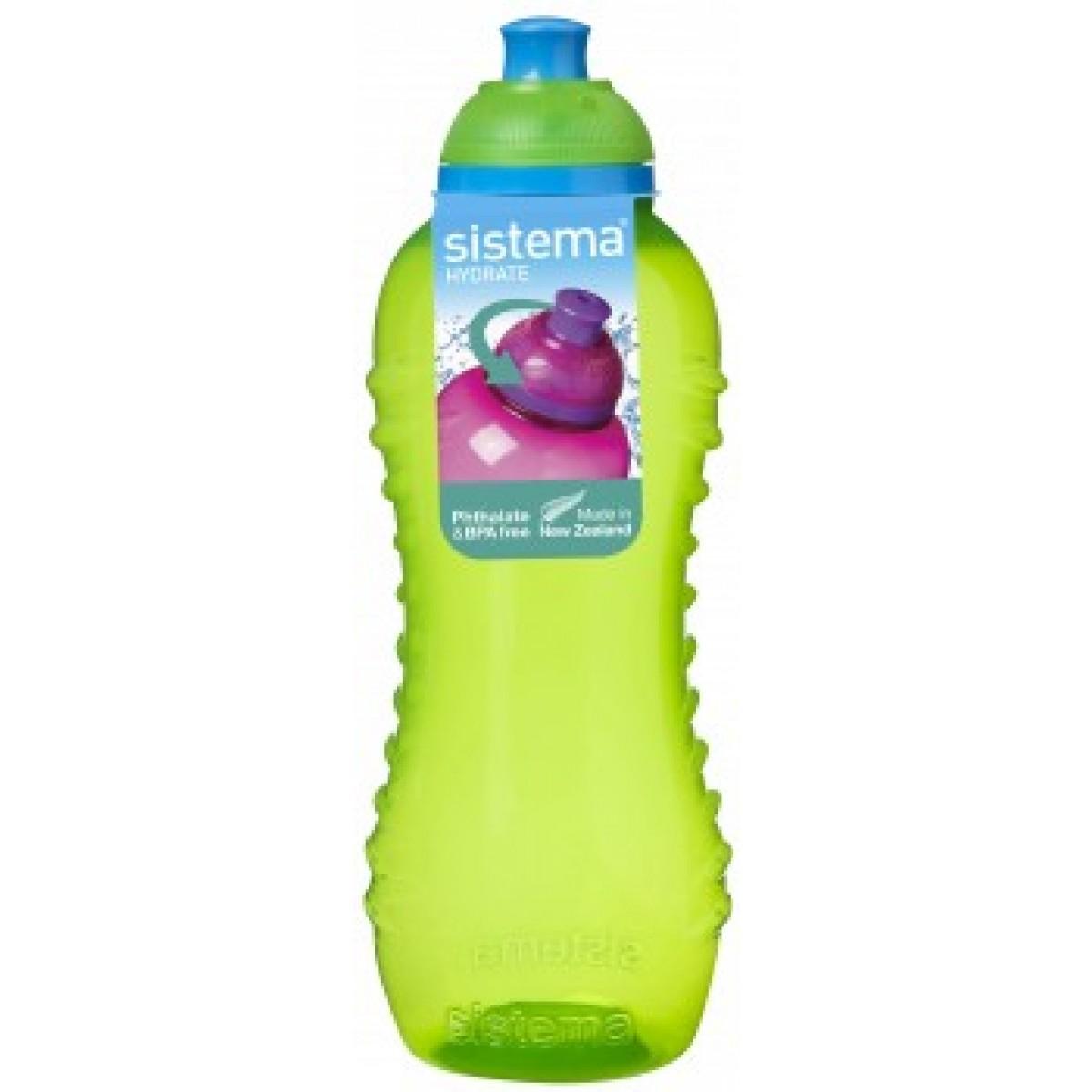 SISTEMA Drikkedunk grøn 460 ml twist 'n' sip