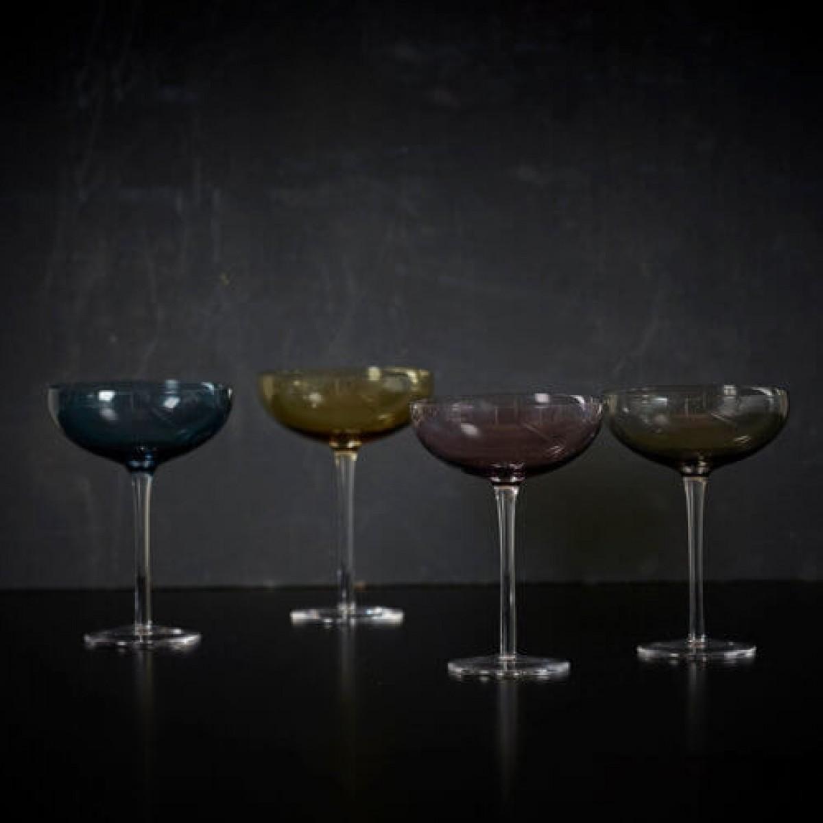 DACORE Indfarvet champagneskål 4 stk