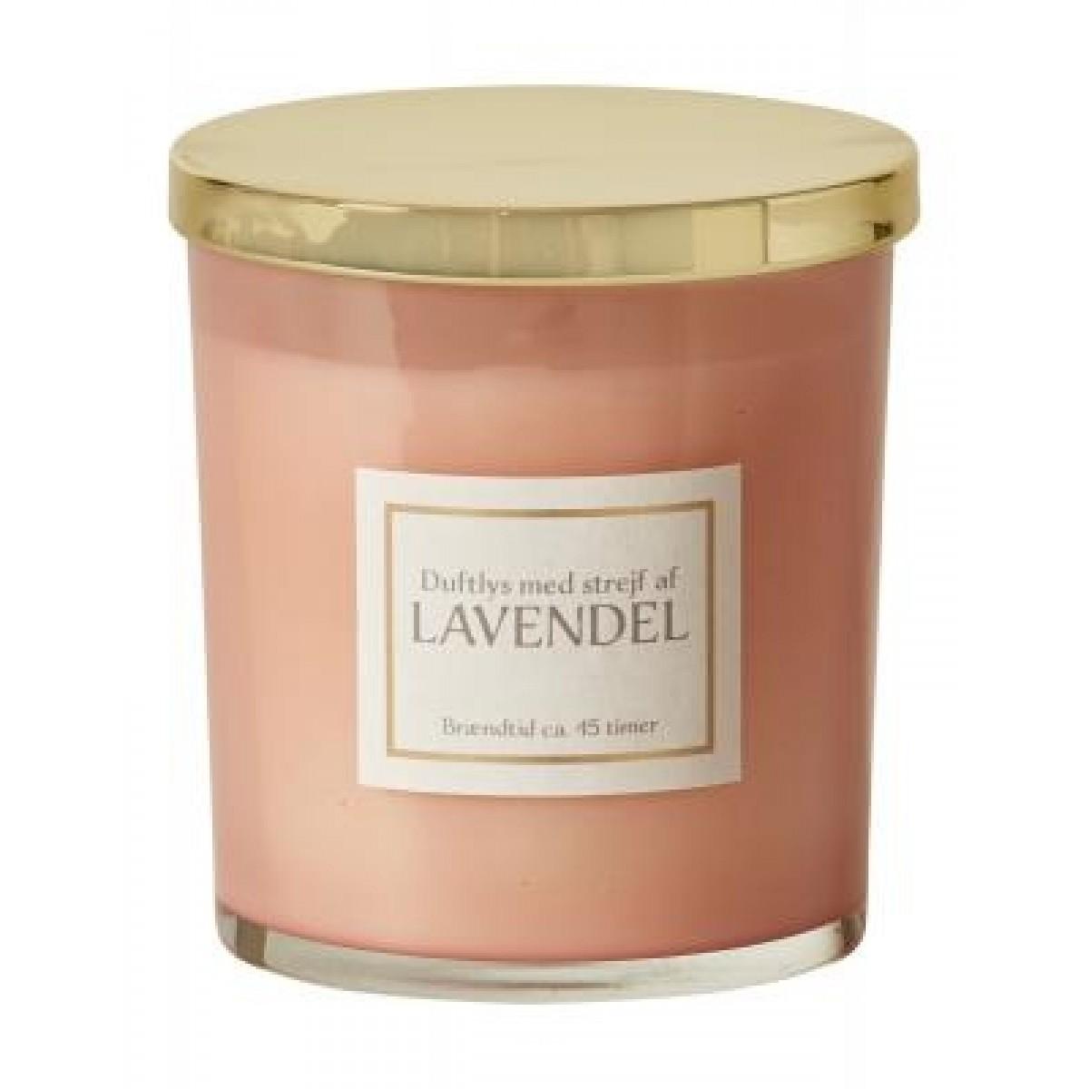 DACORE Duftlys i rosa glas - lavendel