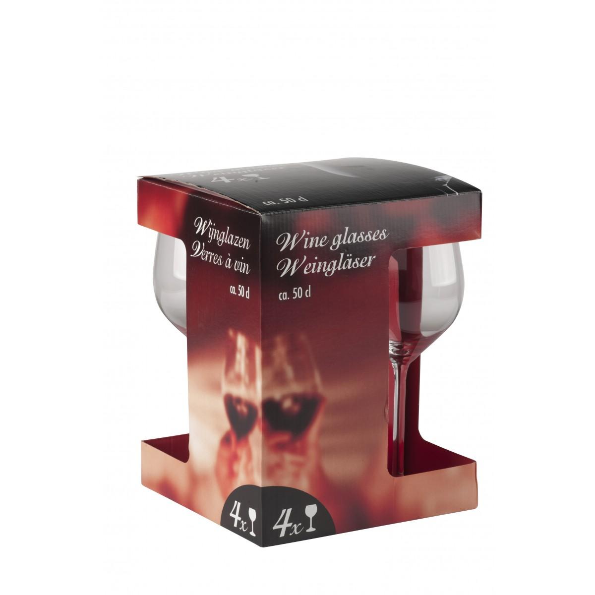 Rødvinsglas 50 cl. 4 stk.