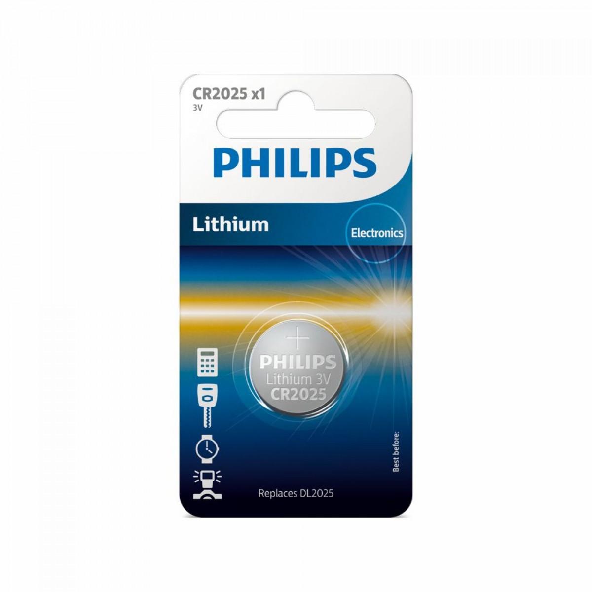 PHILIPS Batteri CR2025