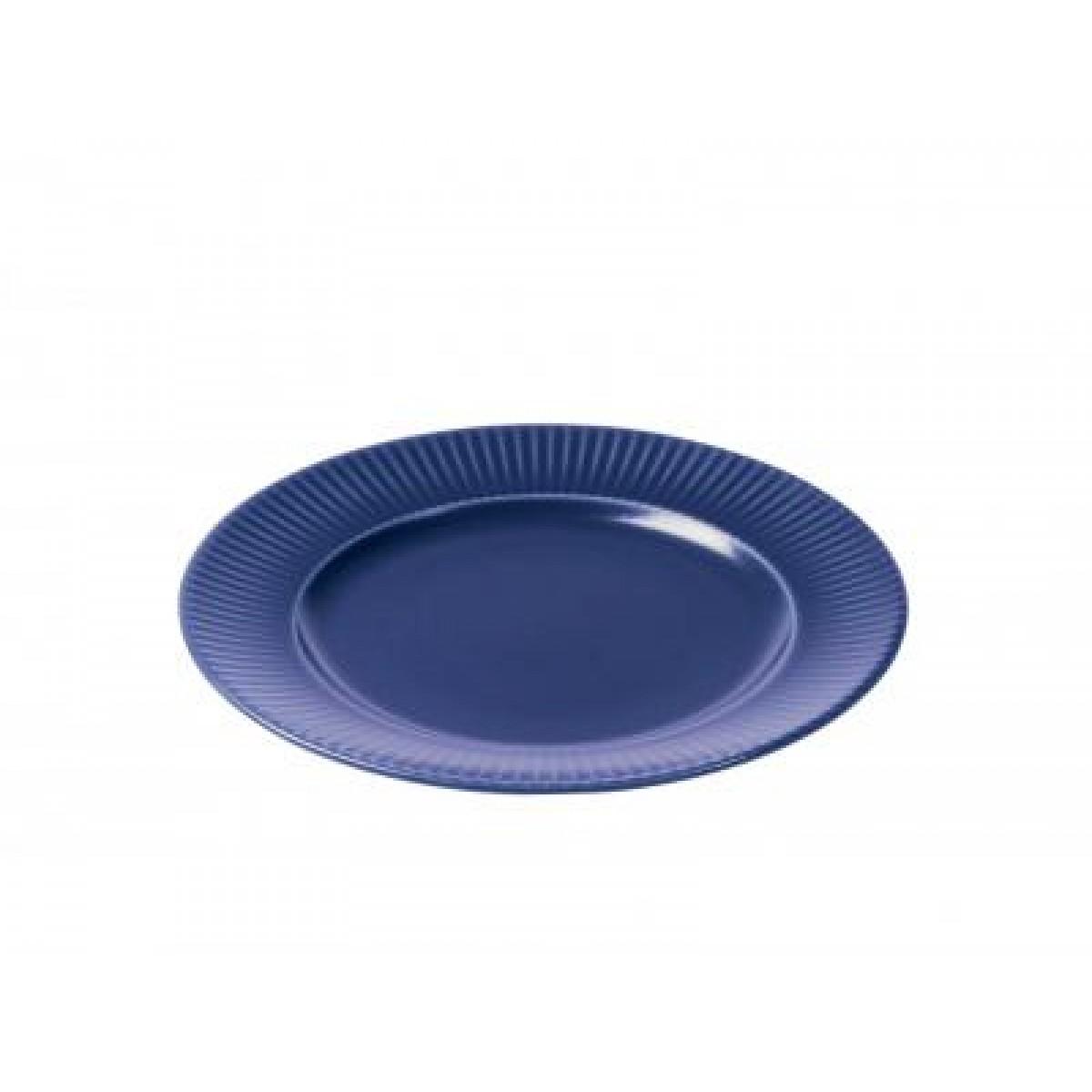 AIDA Groovy blå tallerken 27 cm stentøj