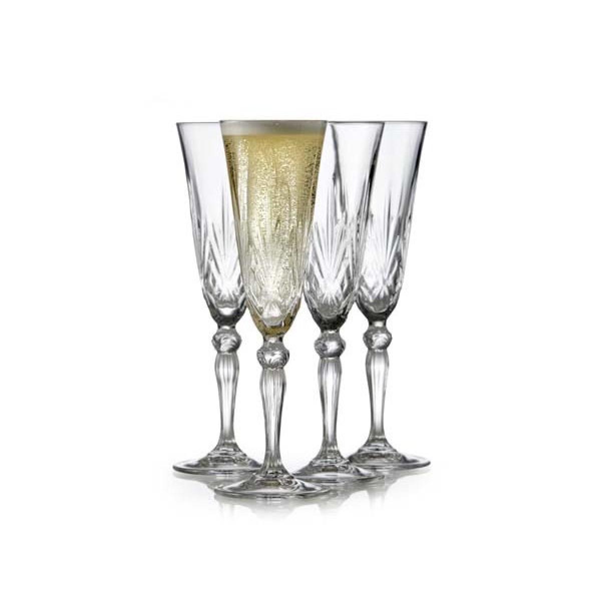LYNGBY Melodia krystal champagneglas 16 cl. 4 stk