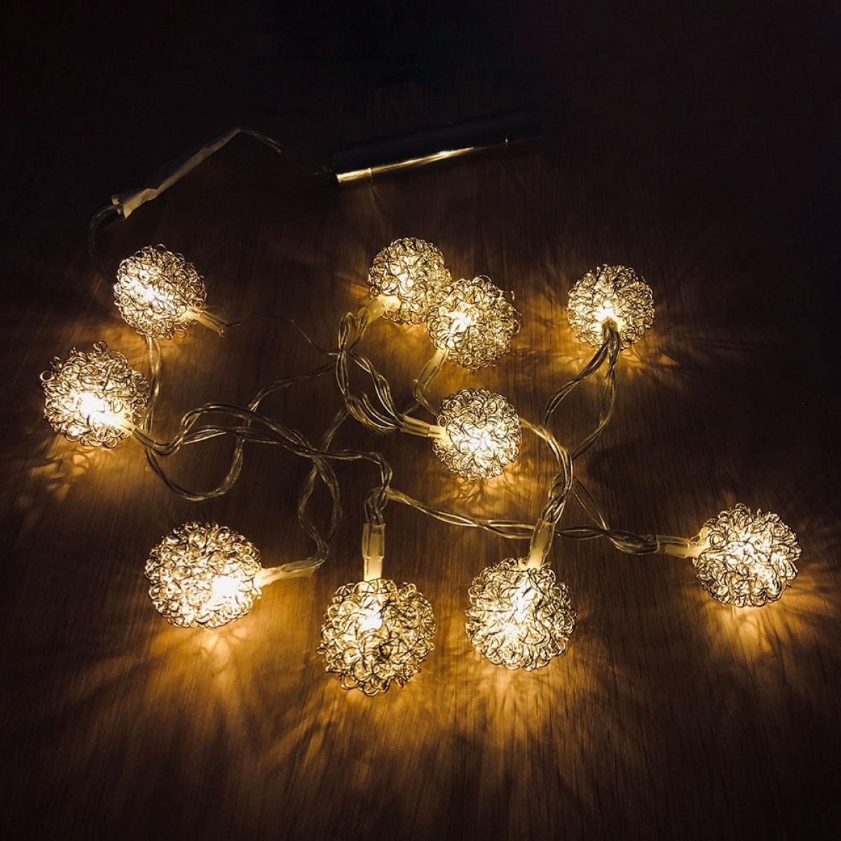 NORDIC LIGHT Lyskæde 10 led -sølv