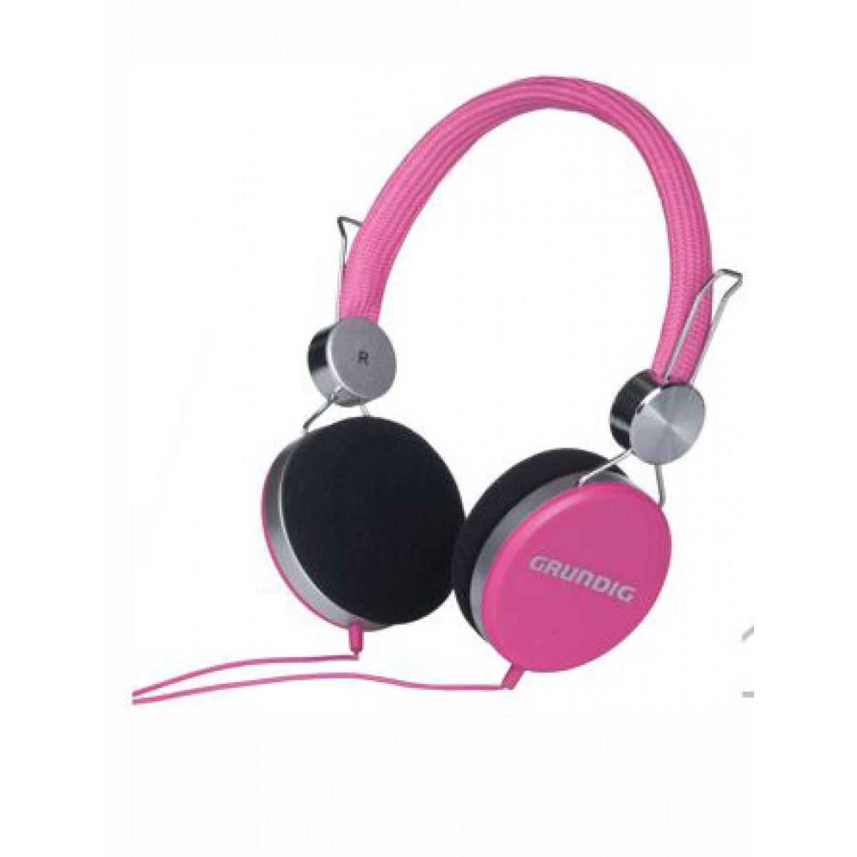 GRUNDIG Hovedtelefon pink