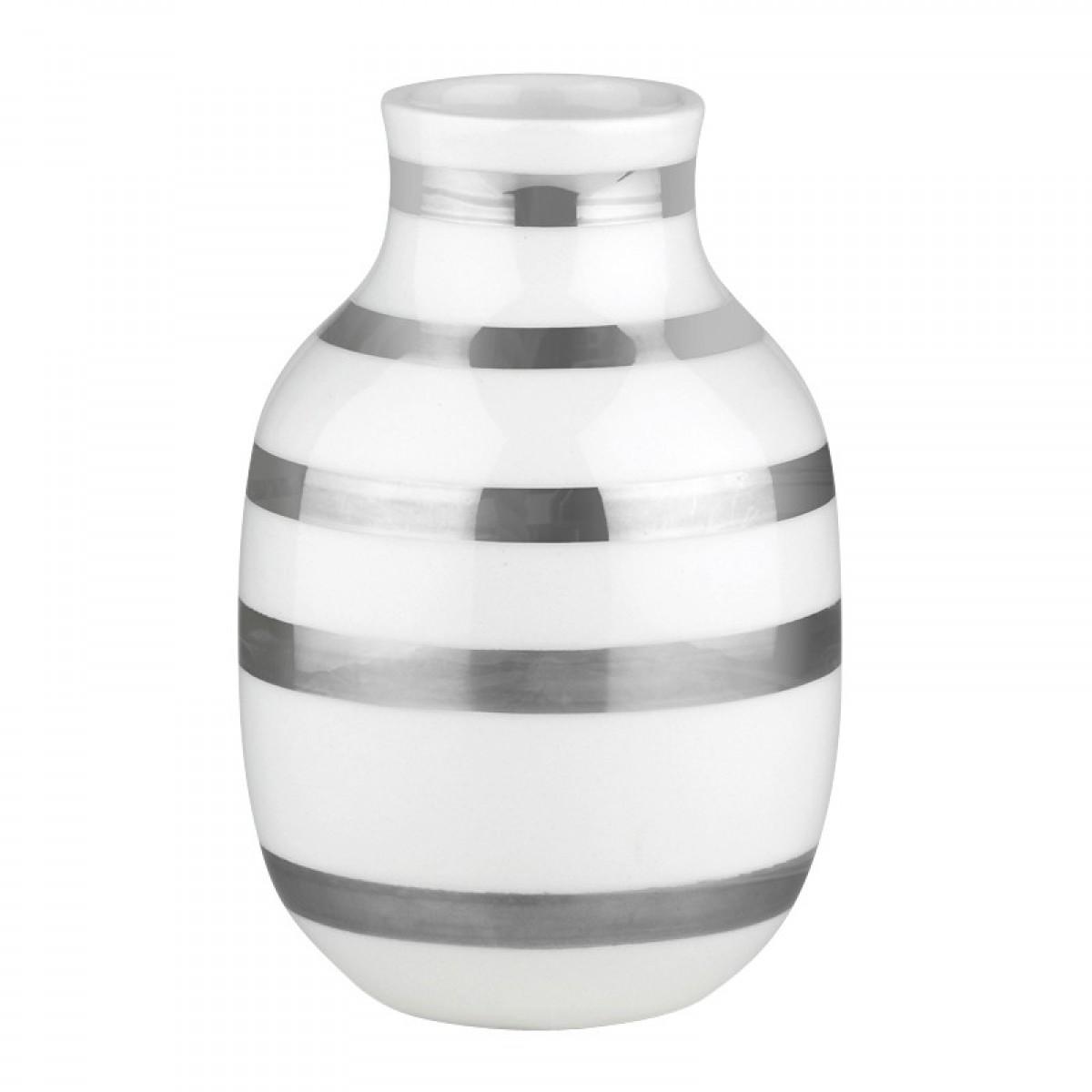 KÄHLER Omaggio vase sølv 12,5 cm.