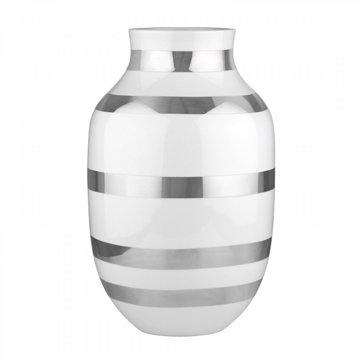 KÄHLER Omaggio vase sølv 30,5 cm.
