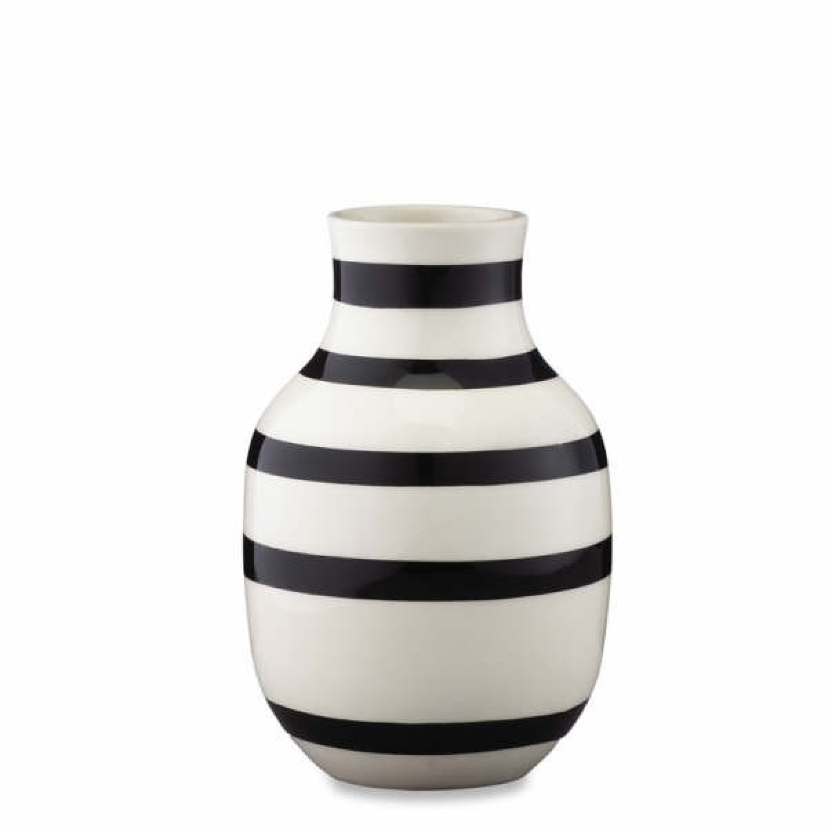 KÄHLER Omaggio vase sort 12,5 cm.