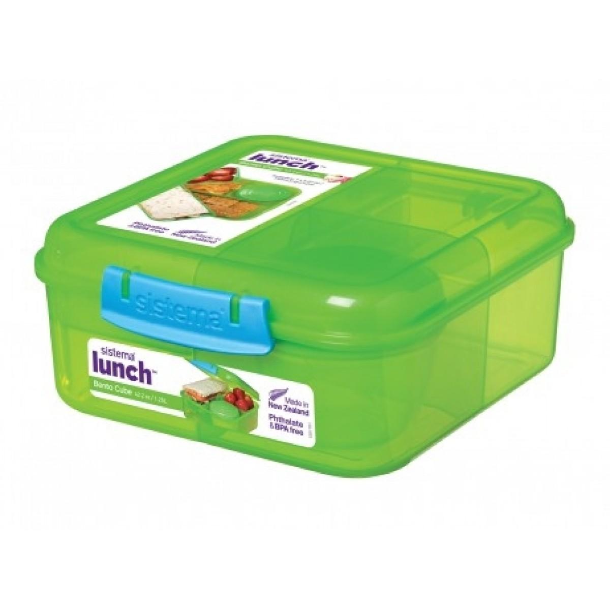 SISTEMA Madkasse bento cube grøn 1,25 ltr