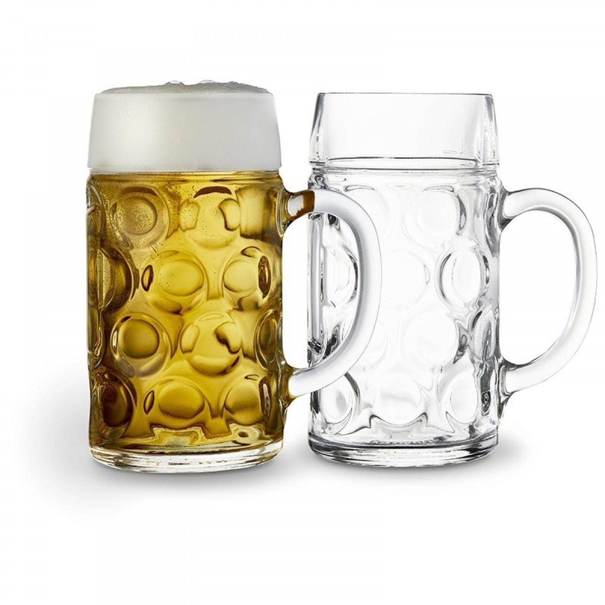 LYNGBY Glas ølkrus 1 ltr. 2 stk