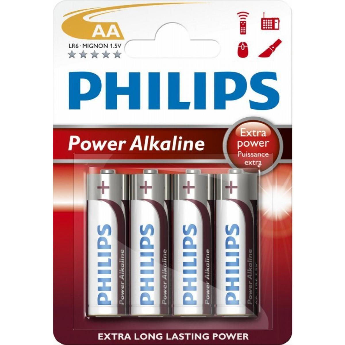 "PHILIPS Batterier ""aa"" 4 pk"