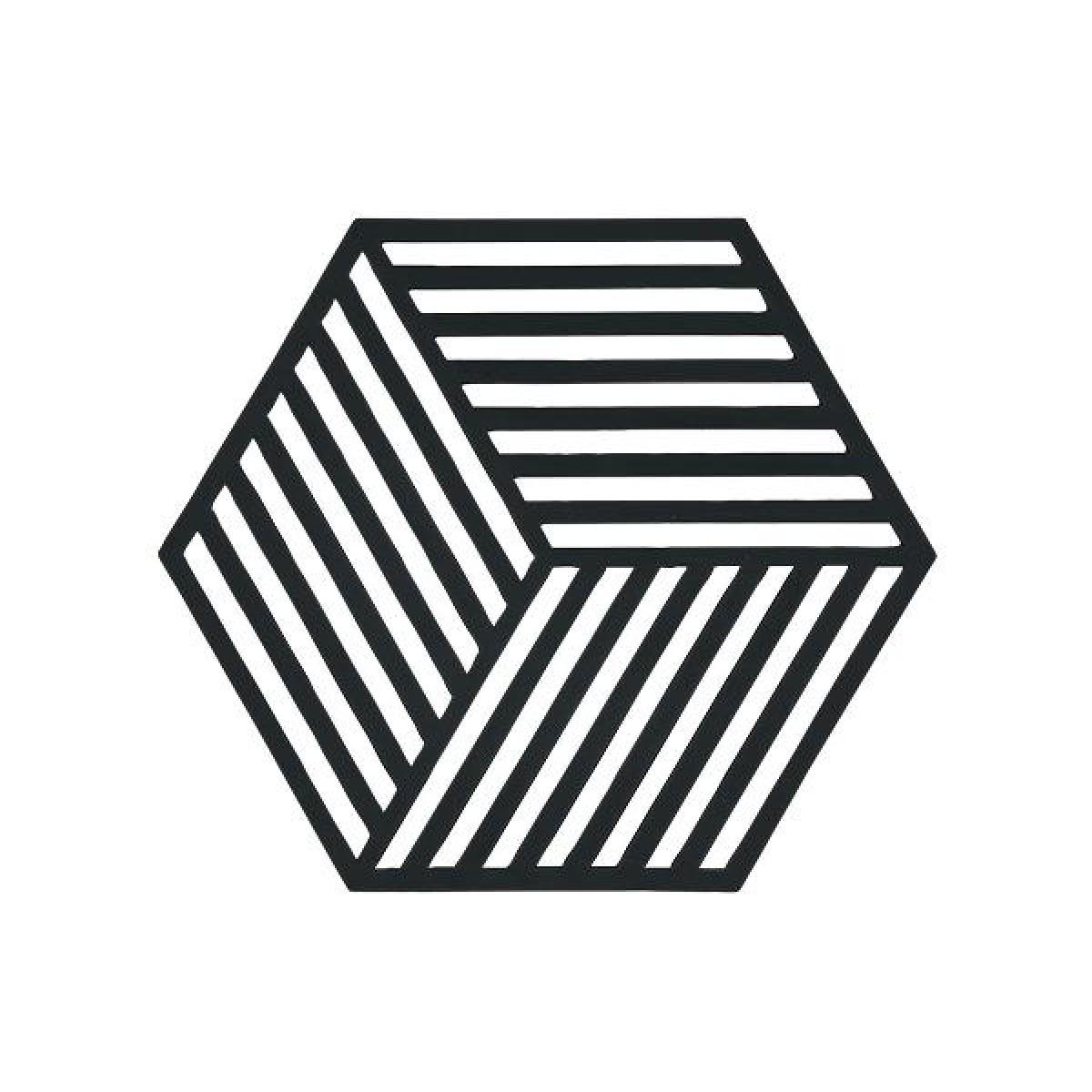 ZONE Bordskåner hexagon 16 x 14 x 0,9 cm sort
