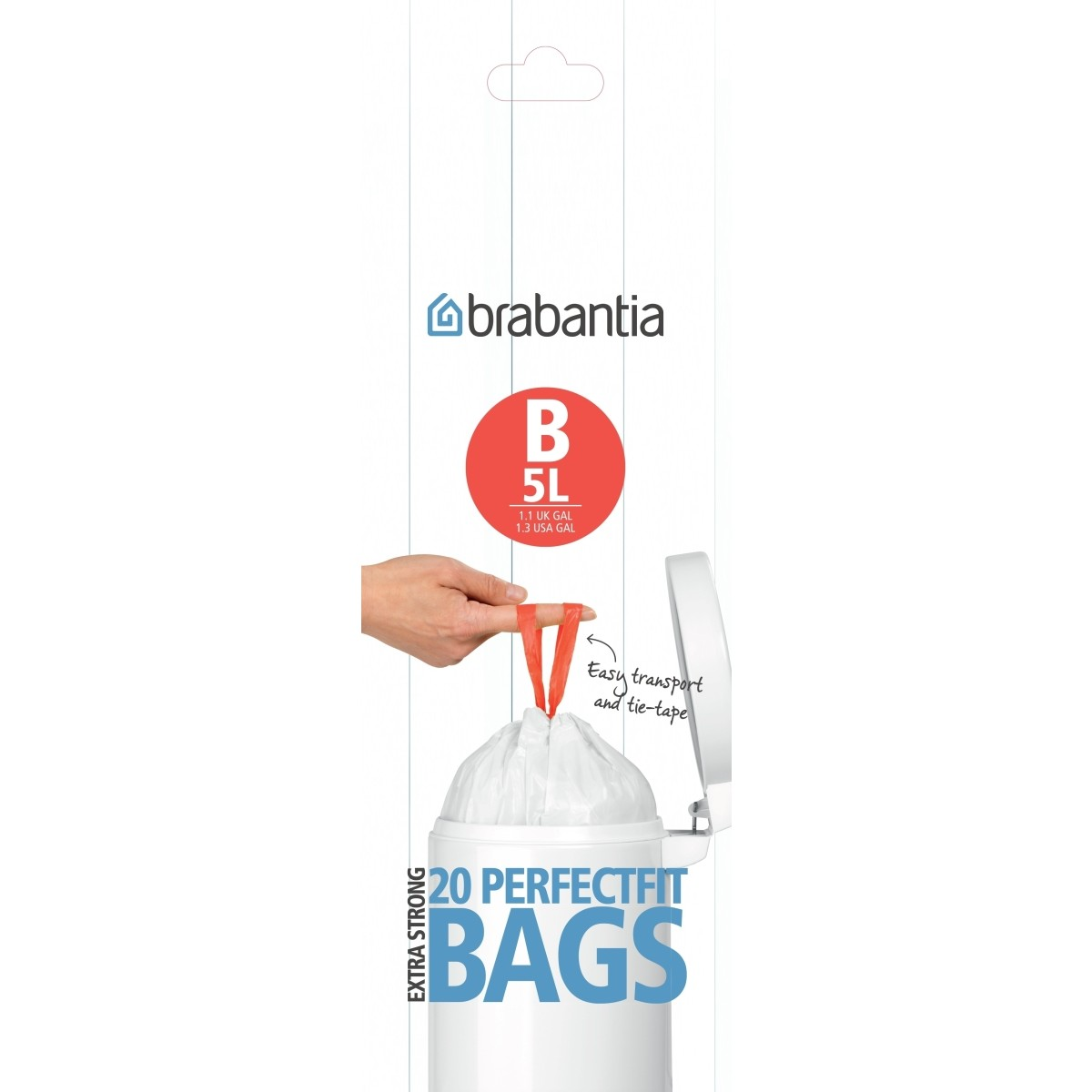 "BRABANTIA Affaldspose 20 stk. 5 ltr. ""B"""