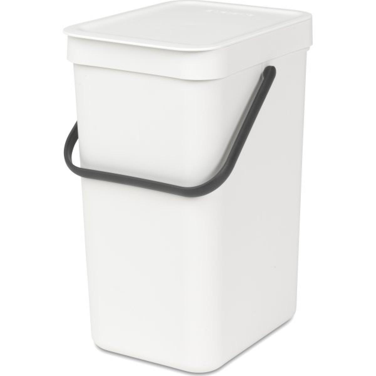 BRABANTIA Affaldsspand m/ låg - Affaldssortering 12 ltr - hvid