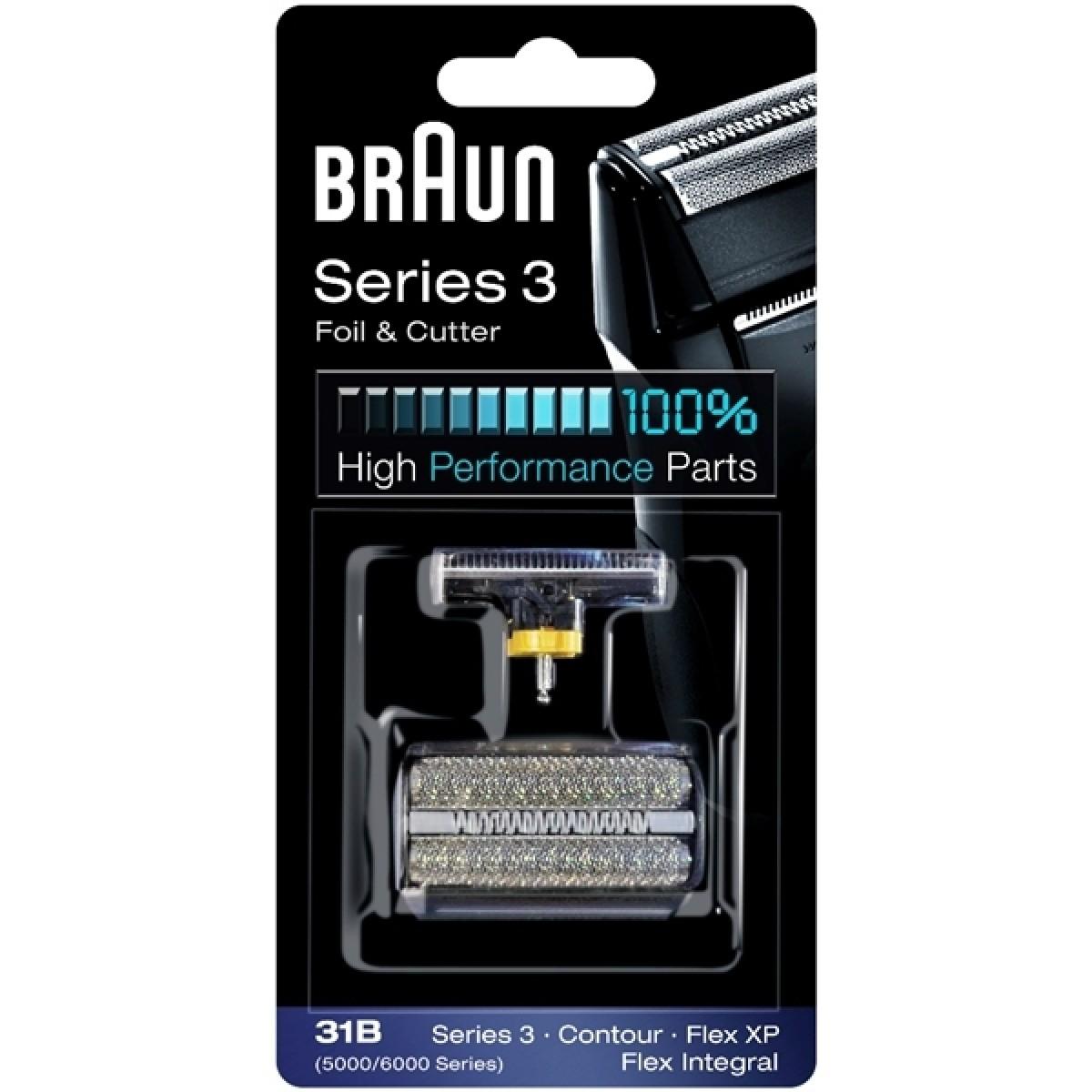 BRAUN Skær til barbermaskine 31B - sort