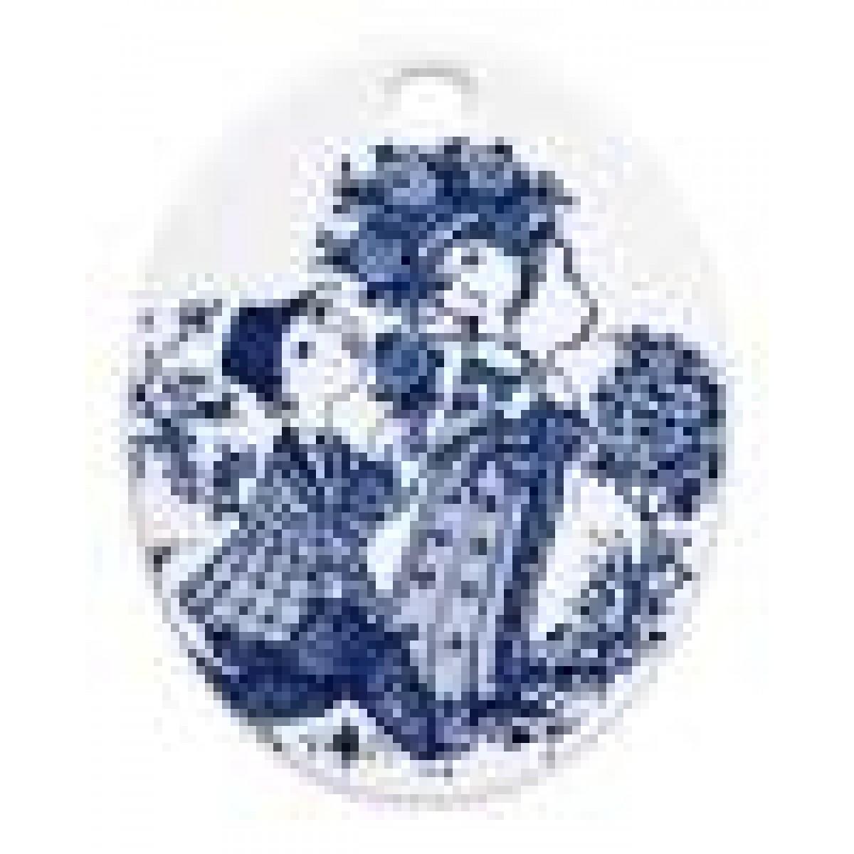 BJØRN WIINBLAD Platte oval roses, blå