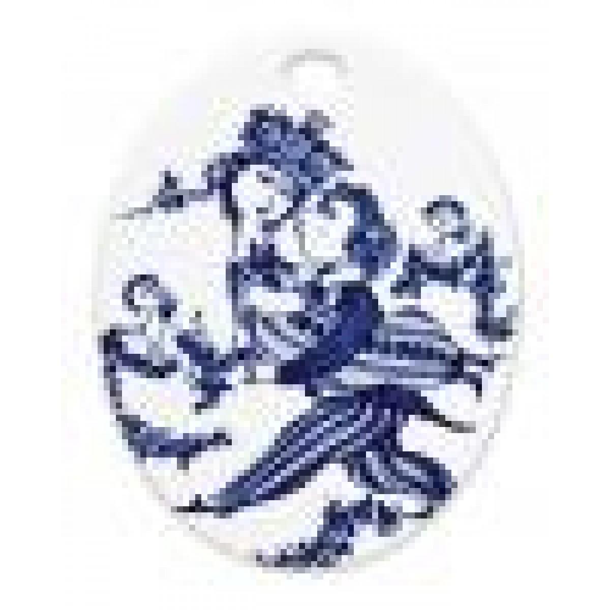 BJØRN WIINBLAD Platte oval victorie, blå