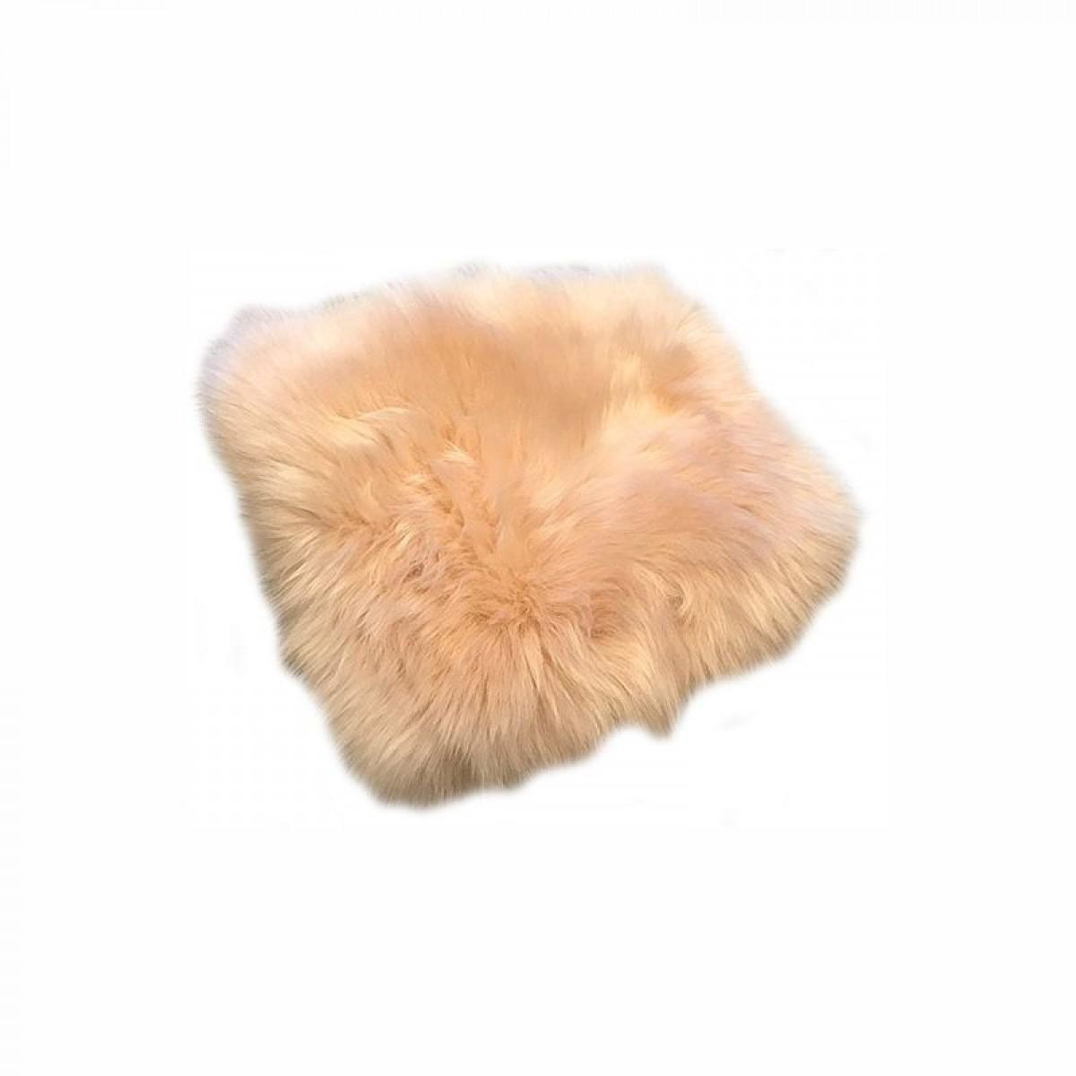 DACORE Sædehynde lammeskind rund rosa 37 cm.