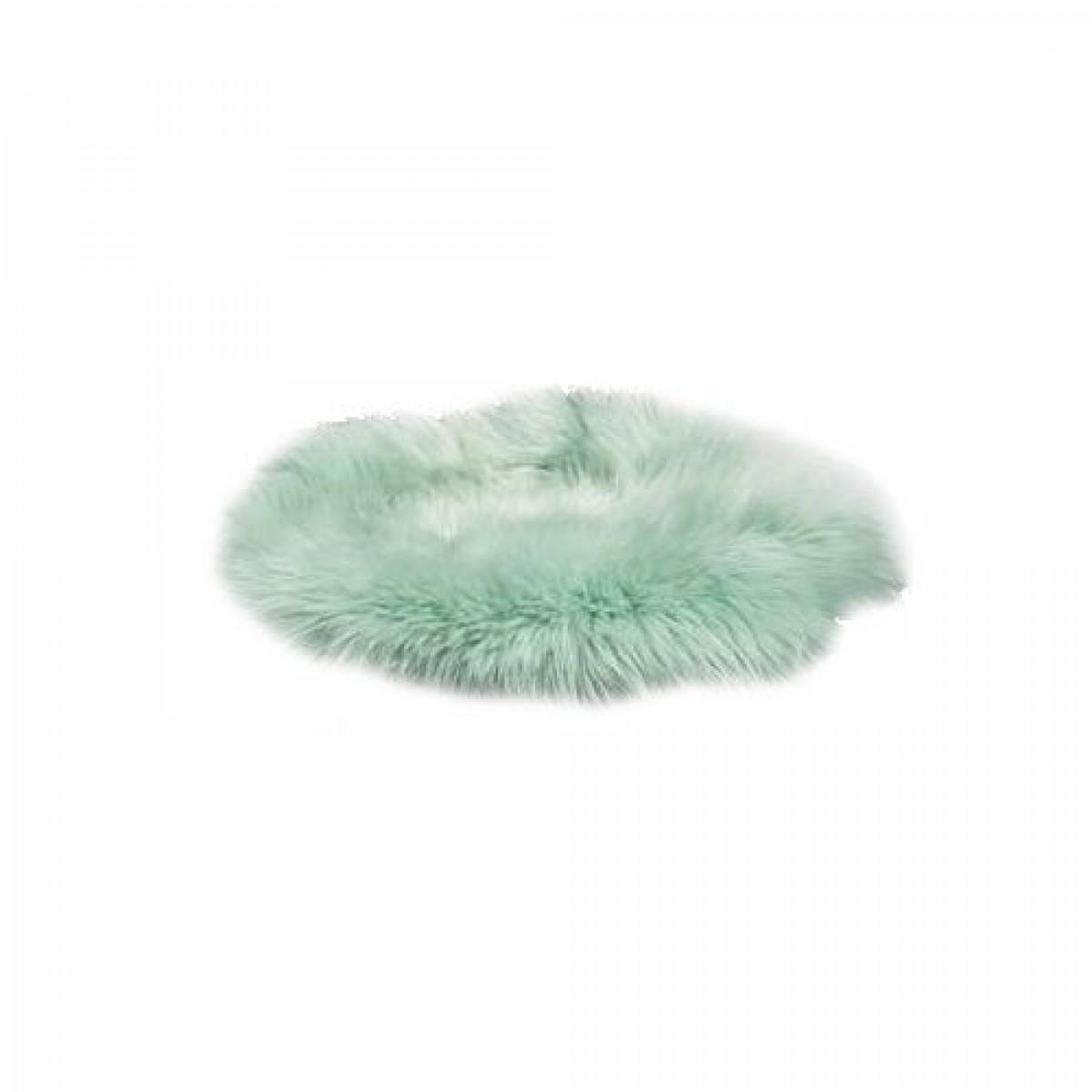 DACORE Sædehynde lammeskind lysegrøn rund ø 37 cm