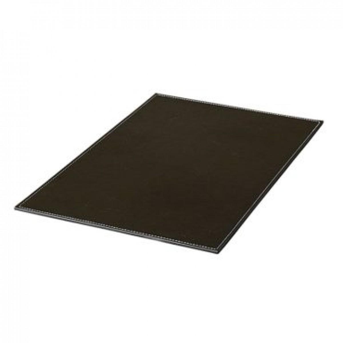 DACORE Dækkeserviet firkantet sort læderlook