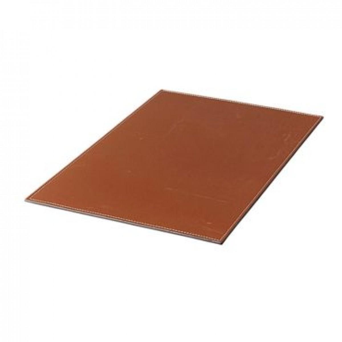 DACORE Dækkeserviet firkantet lys brun læderlook
