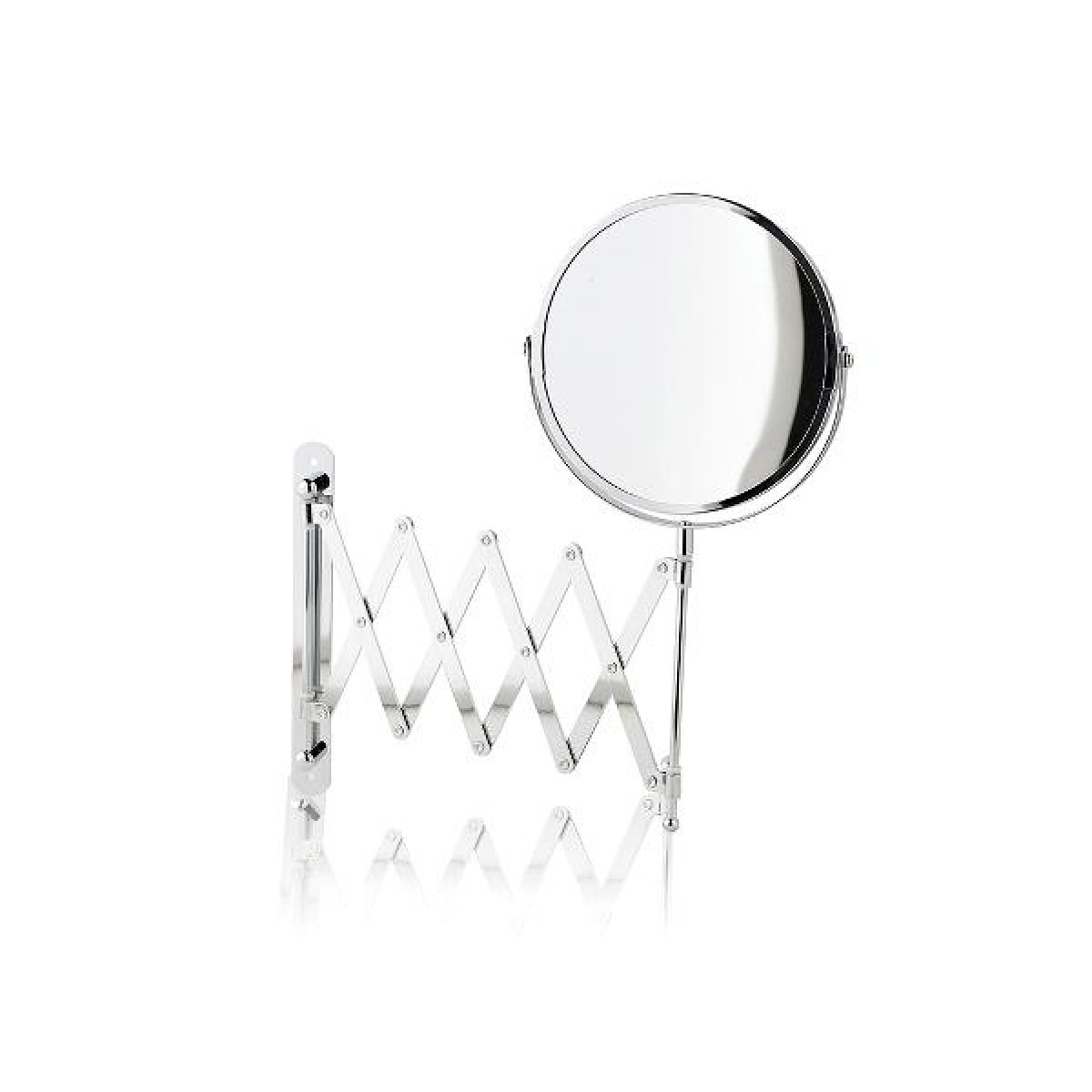 SCANDINAVIA Spejl med udtræk chrom blank
