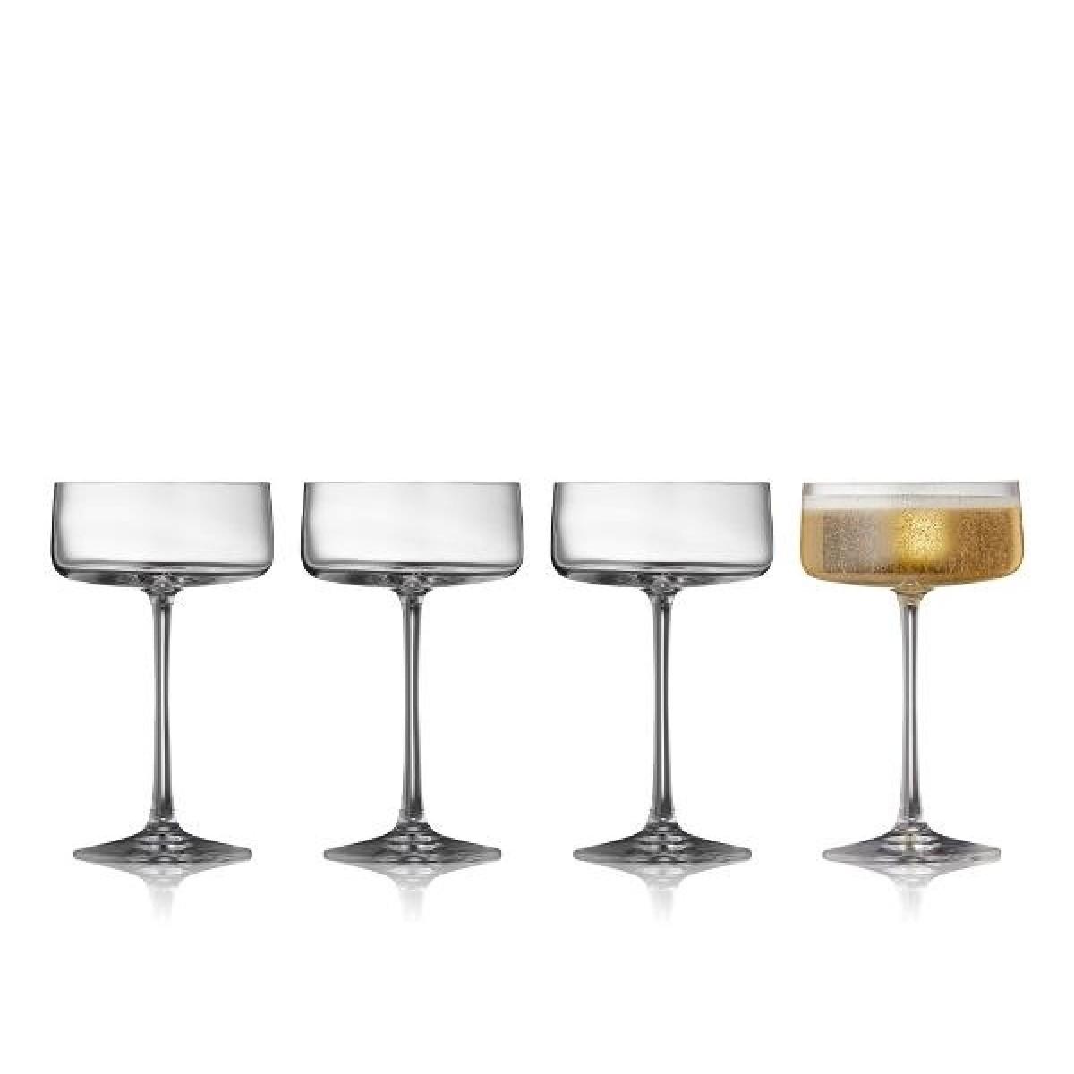 LYNGBY GLAS Zero champagneskål 26 cl 4 stk
