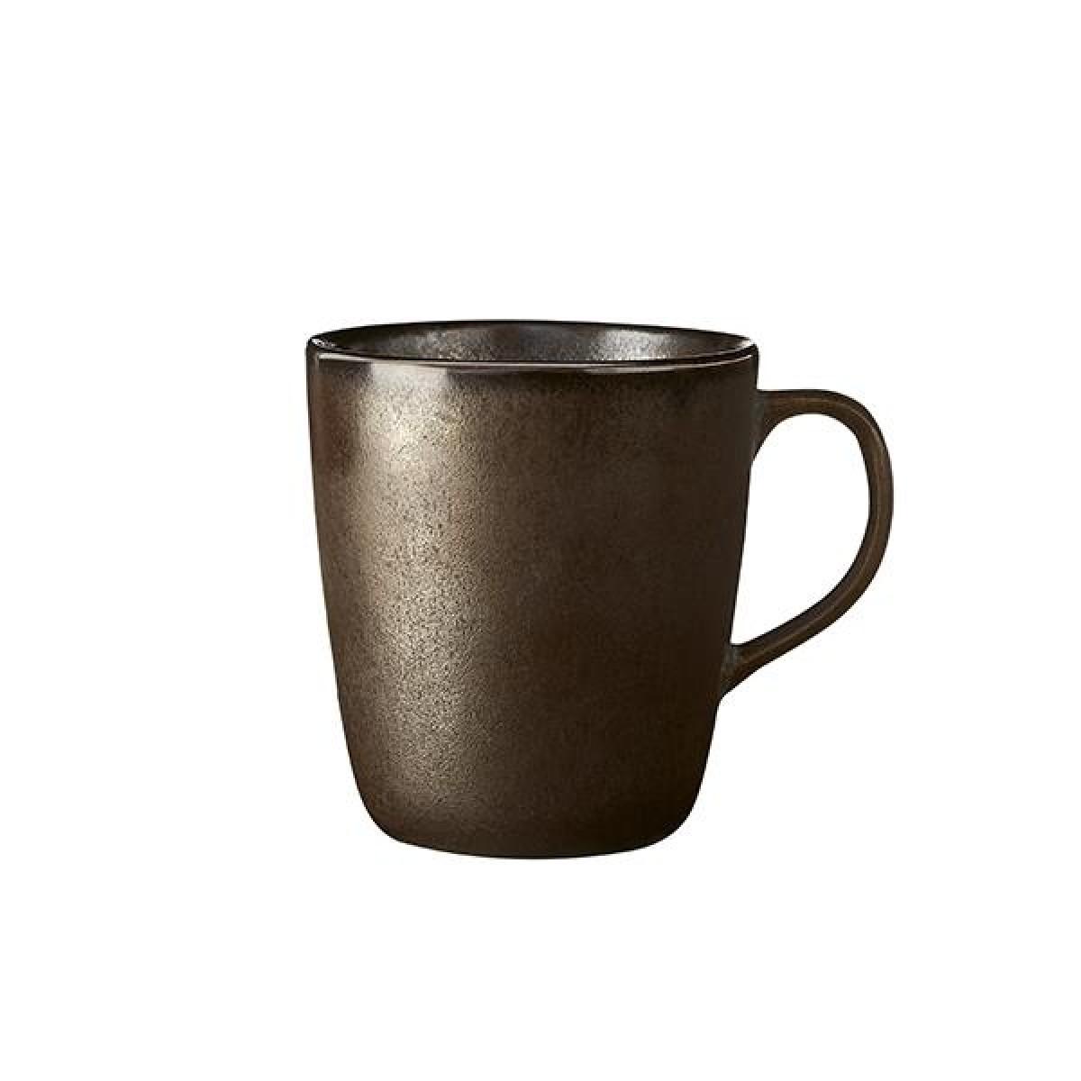 AIDA Raw krus m. hank 30 cl - metallic brown