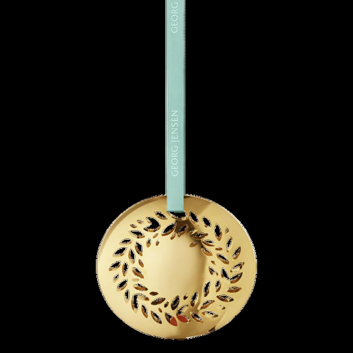 GEORG JENSEN Juleuro magnoliakrans guldbelagt 2016