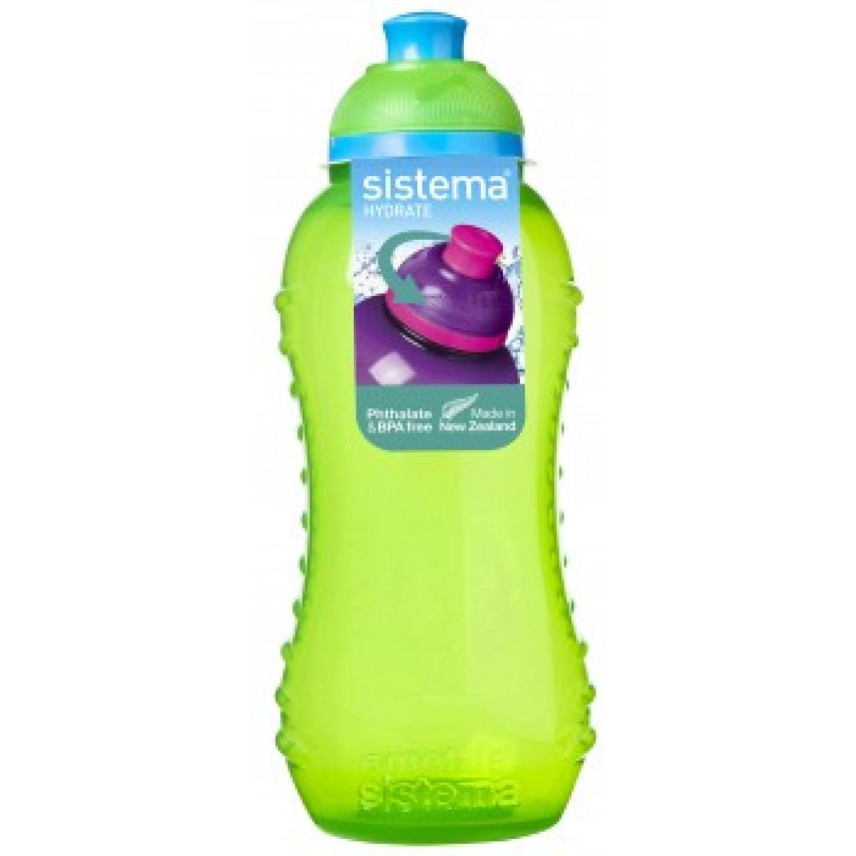 SISTEMA Drikkedunk grøn 330 ml twist 'n' sip
