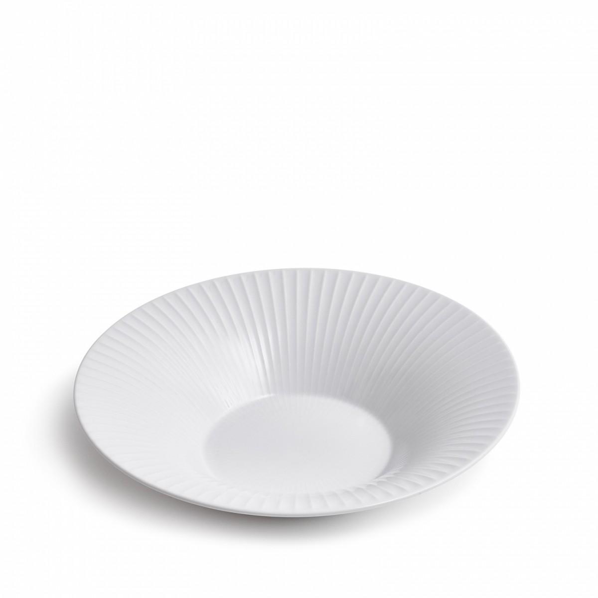 KÄHLER Hammershøi tallerken hvid dyb stor
